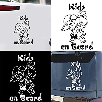 ywbtuechars Car Stickers and Decalss, Cartoon Kids on Board Reflective Car-Styling Vehicle Decals Sticker Decoration PET - Multicolor: Baby
