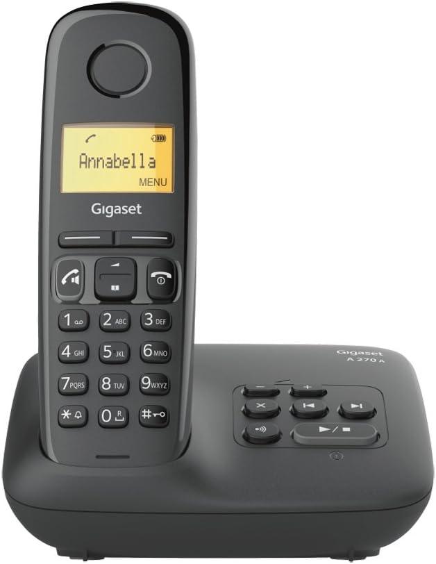 Gigaset A270A Analog/DECT Telephone Negro Identificador de Llamadas: Amazon.es: Electrónica