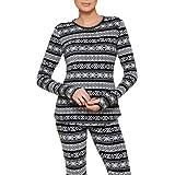 ClimateRight by Cuddl Duds Women's Stretch Fleece Warm Underwear Longsleeve Top
