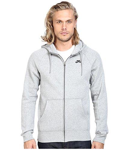 NIKE Mens SB Icon Full Zip Sweatshirt Dark Grey Heather/Black 800149-063 Size 2X-Large