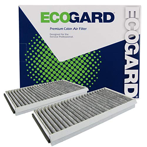 ECOGARD XC26078C Cabin Air Filter with Activated Carbon Odor Eliminator - Premium Replacement Fits BMW 5-Series, 6-Series