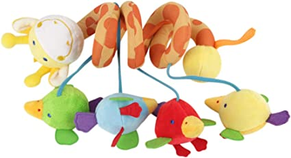 Soft Doll Baby Infant Rattles Cloth Animal Stroller Music Hanging Bell Toys Y