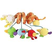 Juguetes Colgantes para Bebés Actividad Abrigo Espiral Alrededor de Muñecos de Peluche Suaves y Coloridos Giratorios Con Música para Cochecito Infantil