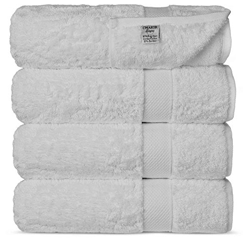 Chakir Turkish Linens Highly Absorbent Bath Towel Set, White