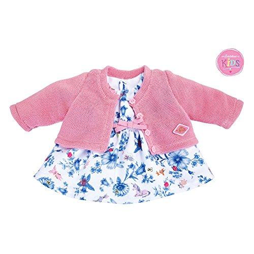 Kids Jacke Dufflecoat rosa Schildkröt Puppen Zubehör bis 43cm Puppen geeignet