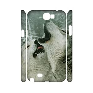 VNCASE Gray Wolf Phone Case For Samsung Galaxy Note 2 N7100 [Pattern-1] by icecream design