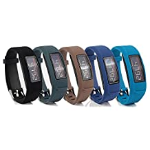 Cute Silicone Replacement Watchband Style Wristband Bracelet/ Accessory Silicon Wrist Strap with Safety Watch Buckle/ Clasp for Garmin Vivofit 2 Fitness Band, One Size ¡