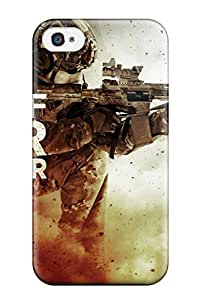 Premium Medal Of Honor Warfighter Game Back Cover Snap On Case For Iphone 4/4s