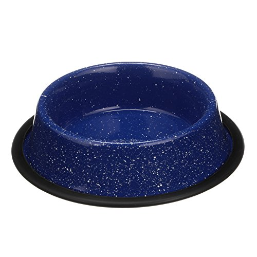 Enamel Refill (NEATER PET BRANDS - Outdoor Camping Style Pet Bowl - Enamel Ware Blue Black Granite Colors - Dog Cat No Tip Skid Bowls (16 oz, Blue))