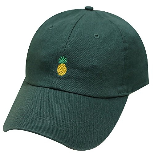 8b585ee3e34 City Hunter C104 Cute Pineapple Summer Cotton Baseball Dad Caps - 27 Colors  (Black) at Amazon Women s Clothing store