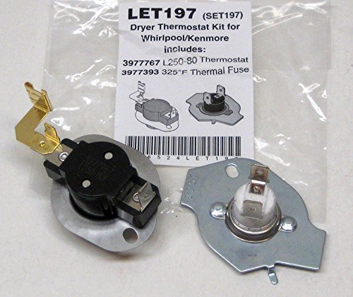 Major Appliances N197 Dryer Limit & Thermal Thermostat Kit for Whirlpool Kenmore 279816 BETTER