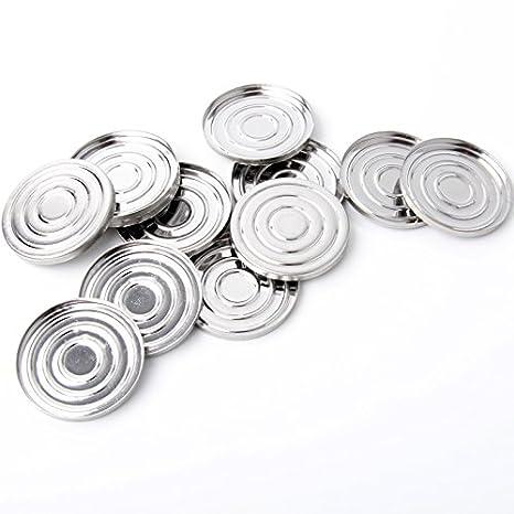 empty Metal hierro sartenes R-500 cosméticos Polvos de maquillaje colorete pigmento contenedor para paleta de maquillaje magnético 30 pcs/Pack Nuevo: ...