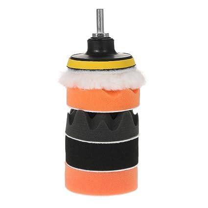 4pcs 3//4//5//6//7 inch Polishing Buffer Waxing Sponge Foam Pads Kit Set For Car