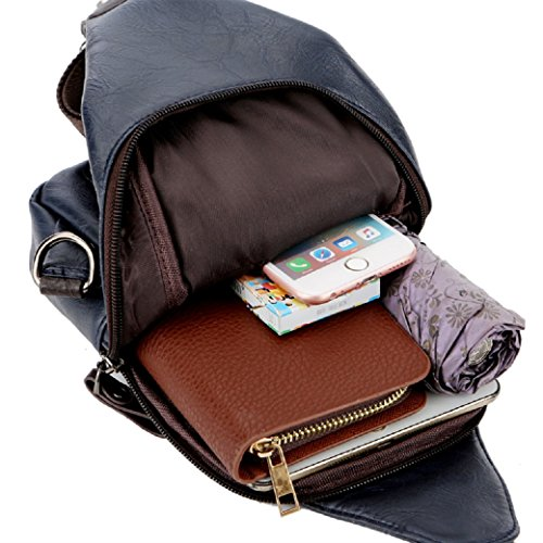 Chest Men Bag Messenger Leather Fashion Cross theft Body Men Assurance 4fsglobal Quality Clasp Anti IqwZztXwn