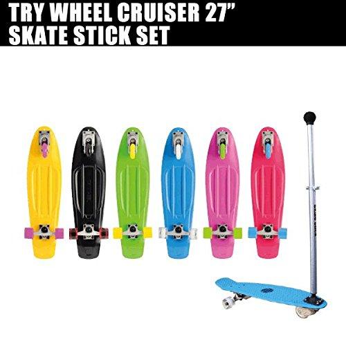 2018セール トライウィール トライウィール クルーザー&スケートスティックセット TRY WHEEL コンプリート グリーン CRUISER 27