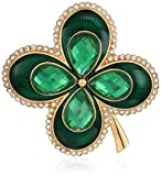 Napier Green and Gold-Tone Four Leaf Clover Brooches and Pin