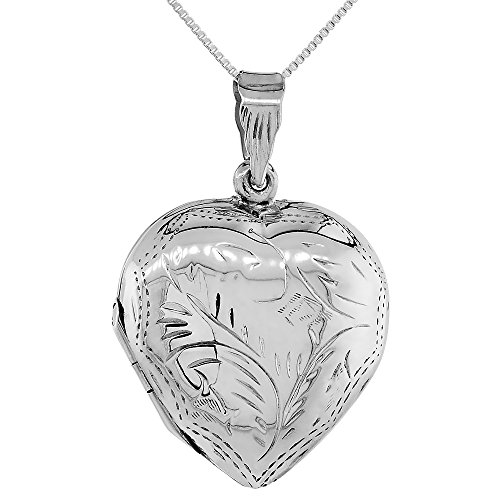 Sterling Silver Pendant Engraved Handmade