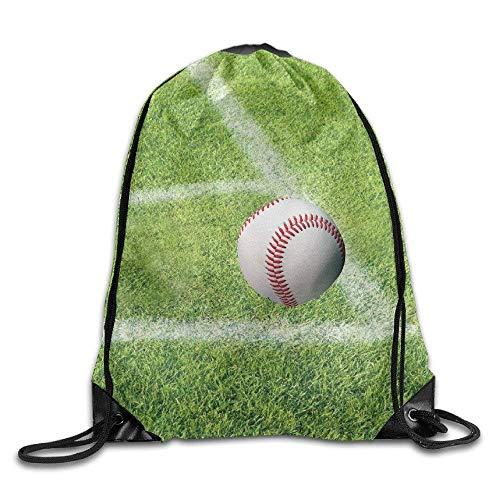 Backpack On Unisex Bag Drawstring Fake Portable Grass Baseball Gym Green Sack YqdPYUw