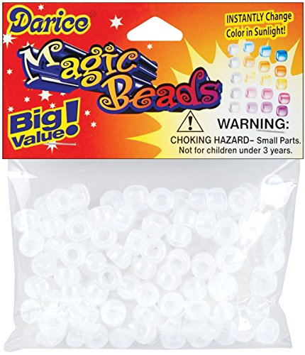 Value Pack Magic Color-Changing Pony Beads 6x9mm 170/Pkg-170