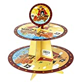Pirates Bounty Carboard Cupcake Stand, Yellow/Brown, 2-Tier, 11-Inch