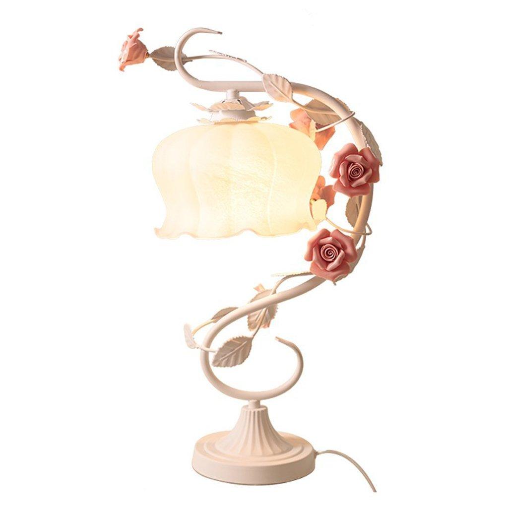 Hotel Schreibtischlampe Europäische Tischlampen-Garten-Schlafzimmer-Nachttischlampe-warme und einfache Beleuchtungs-Hochzeits-Geschenke E27
