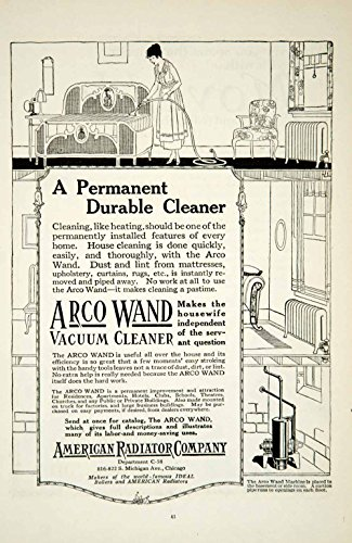 1919 Ad Arco Wand Vacuum Cleaner Household Appliance Art Deco Home Cleaning YSC1 - Original Print Ad from PeriodPaper LLC-Collectible Original Print Archive