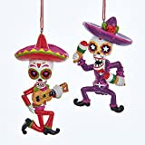 Kurt Adler 3.75-4.5'' Day OF The Dead Mariachi Ornament 2/asstd