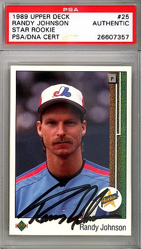 Randy Johnson Signed 1989 Upper Deck Rookie Card #25 Mont...