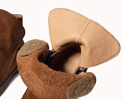 ZHRUI Scarpe morbide morbide morbide per Donna Scarpe Casual Piatte in Pelle con Cerniera (colore   Marrone, Dimensione   EU 40) 4842dd