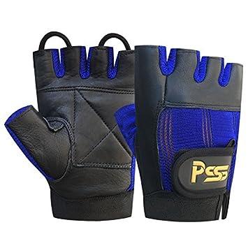 Levantamiento Pesas Acolchado CULTURISMO SILLA DE RUEDAS gimnasio guantes de cuero negro / AZUL MEDIO (M): Amazon.es: Deportes y aire libre