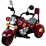 Lil' Rider Ride on Toy, 3 Wheel Trike Chopper Motorcycle for Kids by Battery Powered Ride on Toys for Boys and Girls, Toddler and Up - Maroon