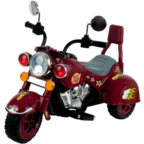 Ride on Toy, 3 Wheel Trike Chopper Motorcycle for Kids by Lil' Rider - Battery Powered Ride on Toys for Boys and Girls, Toddler and Up - Maroon -