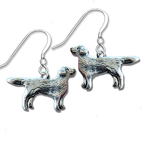 Sterling Silver Labrador Retriever Full Body Earrings