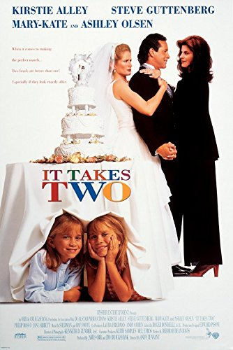IT TAKES TWO Original Movie Poster 27x40 - Dbl-Sided - Kirstie Alley - Steve Gutenberg - Ashley Olsen - Mary-Kate - Ashley Kate Olsen Brand And Mary