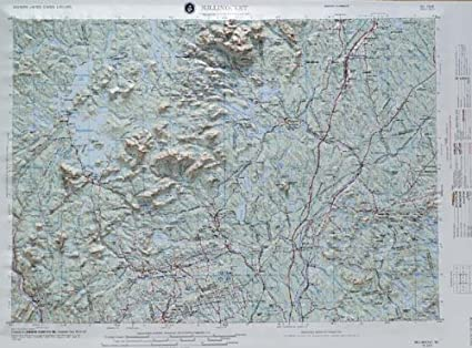 Amazon.com : MILLINOCKET REGIONAL Raised Relief Map in the state of on
