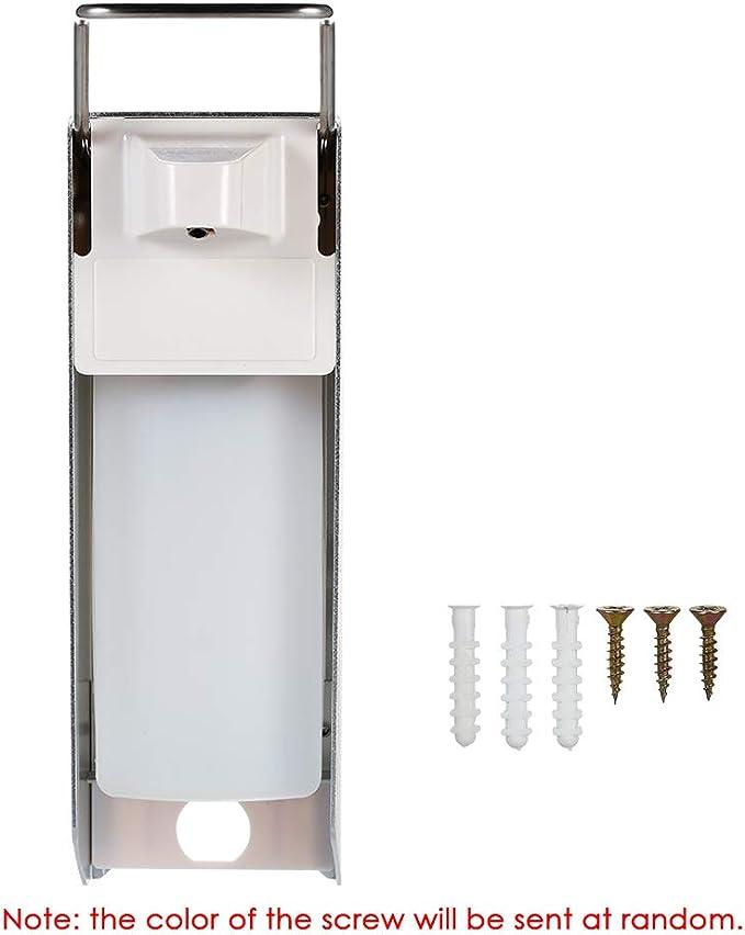 Seifenspender,Desinfektionsspender 500 ML Seifenspender Edelstahlgriff Hygienischer Seifenspender mit Wandmontur Medizinischer Desinfektionsmittelspender f/ür Toilette Krankenhaus Restaurant 500ML
