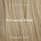 FidgetFidget 16''-30'' 7Pcs Clip in/On Remy Human Hair Extensions Straight #24 Natural Blonde #24 Natural Bonde 30inches 180g