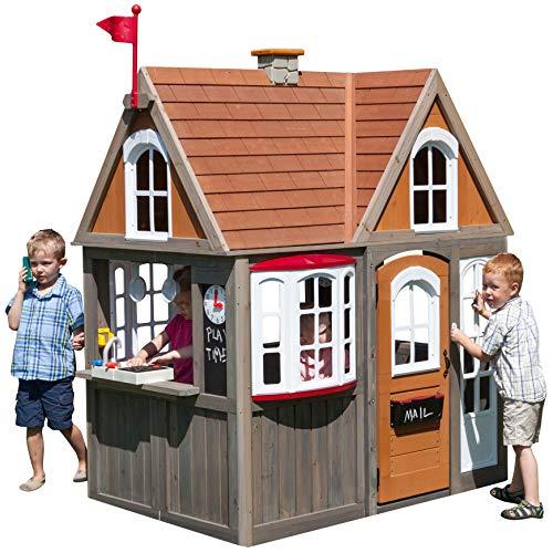 KidKraft Greystone Cottage Playhouse with EZ Kraft Assembly (Outdoor Kidkraft)