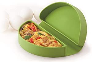 MSC International 44044 Joie Microwave Omelet Maker, Non-Stick Silicone, Green, One Siza,
