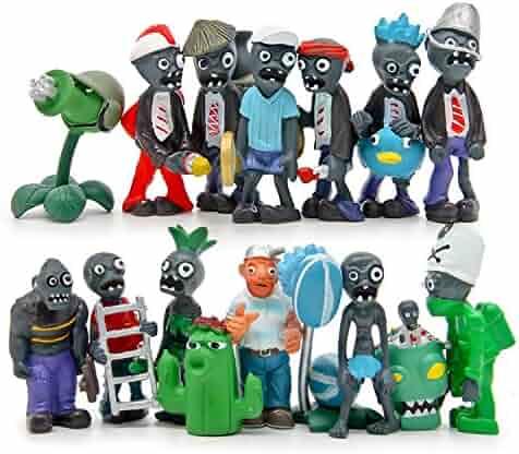 Maggift Plants vs Zombies Figure PVC Toys,16 Piece (Plants vs Zombies)