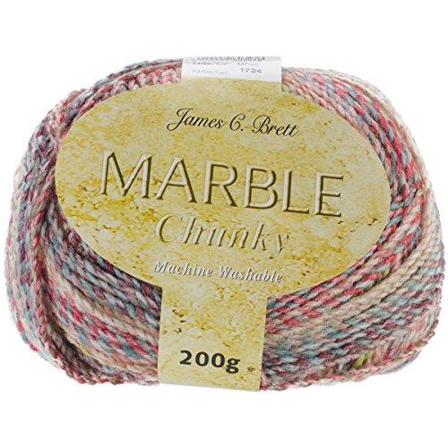 Chunky Peach - James C. Brett MC45 Marble Chunky Yarn-Tropical Peach