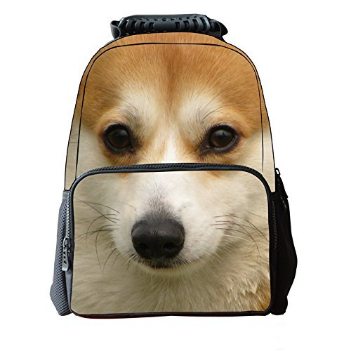 YJ 3D Animal Cute Kids Backpack Laptop(Akita)