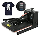 "Image of F2C 15"" x 15"" Black Digital Clamshell Heat Press Transfer T-shirt Sublimation Machine (15""x 15"" black)"