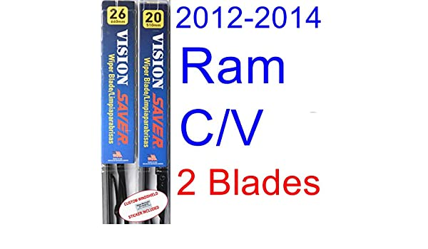Amazon.com: 2012-2014 Ram C/V Replacement Wiper Blade Set/Kit (Set of 2 Blades) (Saver Automotive Products-Vision Saver) (2013): Automotive