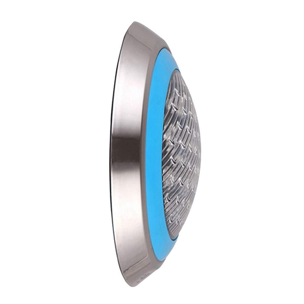 Fityle Swimming Pool LED Light AC 12V/24V 9W/12W RGB Underwater Lights,Stainless Steel, IP68 Waterproof - 18 W