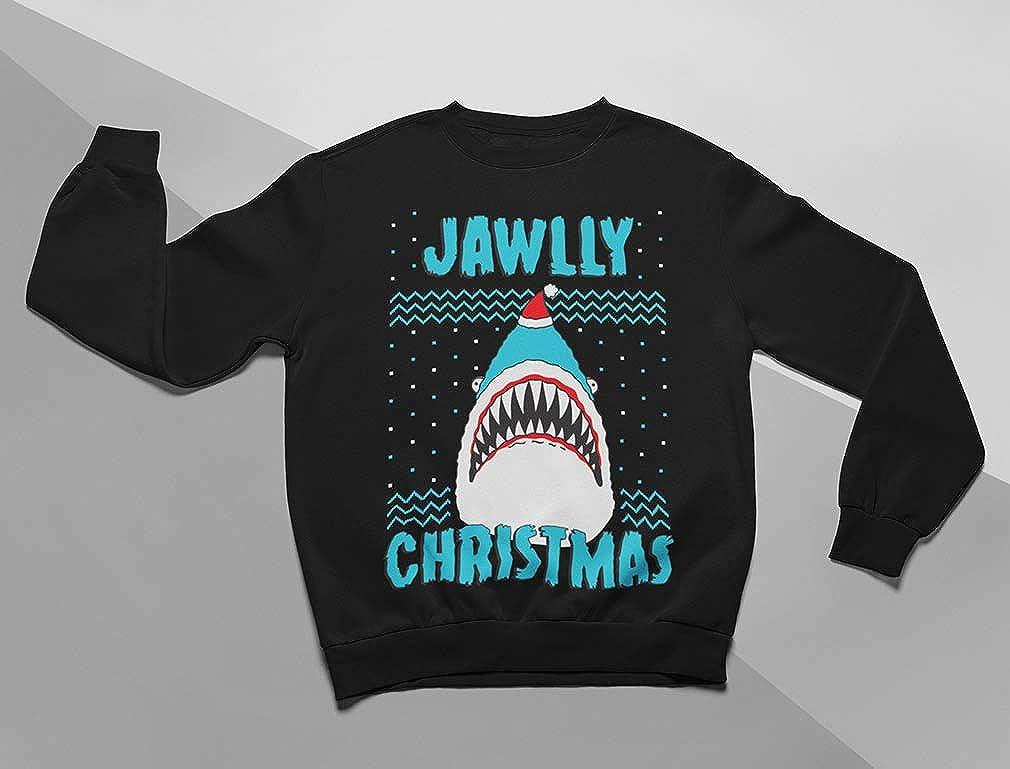 Tstars Jawlly Christmas Ugly Xmas Sweater Party Shark Youth Kids Sweatshirt