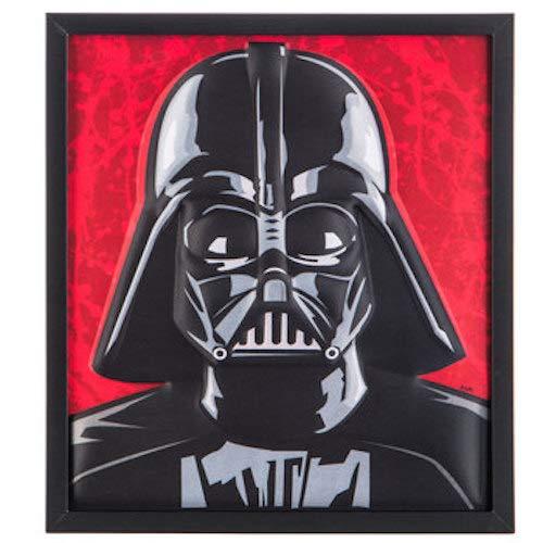 Star Wars Raised Darth Vader Framed Wall Decor Home Decoration Theater Media Room Man ()