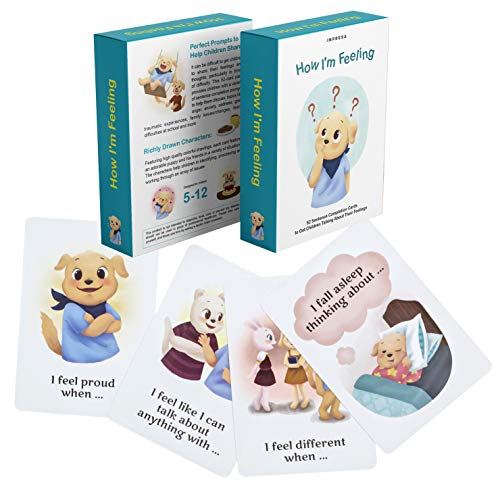 - How I'm Feeling - 52 Sentence Completion Cards to Get Children Talking About Their Feelings - Ideal for Parents, Teachers, Therapists and More - by Impresa