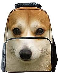YJ 3D Animal Cute Kids Backpack Laptop(Akita)