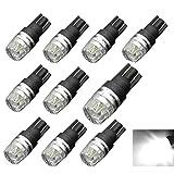 Motorus93 10-Pack Super Bright T10 W5W 194 168 3W White LED 12V Interior Car Light Bulbs